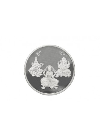 20gm Laxmi /Ganpati/Saraswati Non Colour 999  Purity Silver Coin