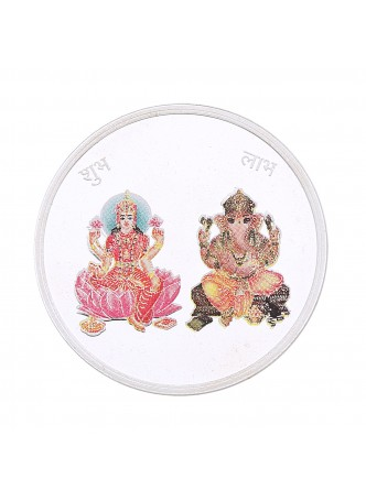 20gm Laxmi /Ganpati Colour 999  Purity Silver Coin