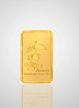 5gm National Games Coin Non Colour 999  Purity Gold Coin