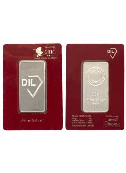 DIL  SILVER NONCOLOURED  BAR 50GM