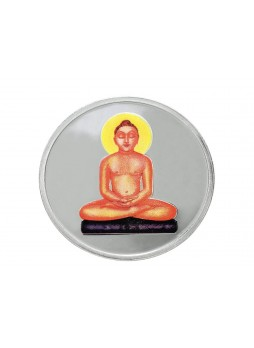 MAHAVEER PURE COLOURED SILVER COIN 20GM
